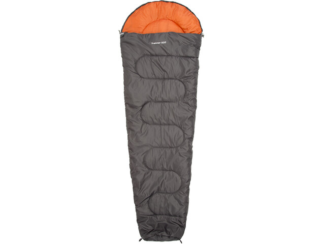 CAMPZ Trekker 500 Schlafsack anthrazit/orange